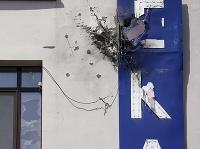 Zničená budova televízie