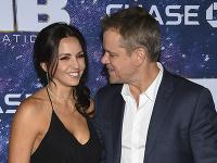 Matt Damon s manželkou Lucianou.
