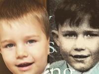 Billy (vpravo) a jeho starý otec, keď bol malý