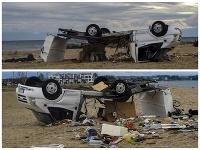 Ničivá búrka v Grécku prevrátila auto s českými manželmi.