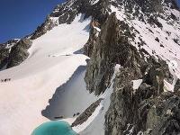 Nonovytvorené jazero v Alpách
