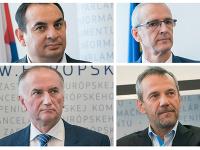 Peter Pollák, Ivan Štefanec, Eugen Jurzyca a Robert Hajšel
