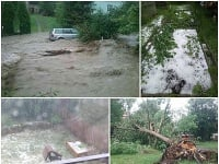 Stredné a východné Slovensko zasiahlo nepriaznivé počasie.