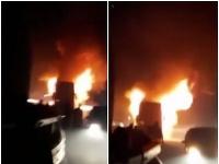 Požiar autobusu, v ktorom cestovali českí turisti.