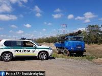 Razia skládky v Bratislave
