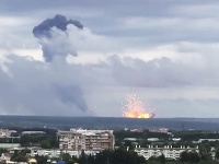 Požiar a výbuchy v muničnom sklade si vyžiadali 12 zranených