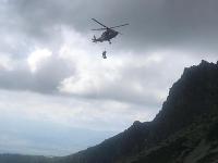 Pri záchrane musel zasahovať aj vrtuľník