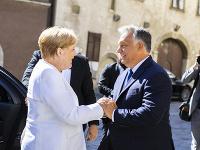 Angela Merkelová na stretnutí s Viktorom Orbánom.