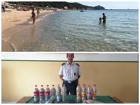 Francúzsky pár si vzal z pláže piesok