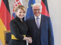 Na snímke slovenská prezidentka Zuzana Čaputová (vľavo) a nemecký prezident Frank-Walter Steinmeier