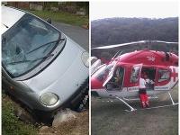 Chodec utrpel vážne zranenia, zrazila ho žena, ktorá nemá vodičský preukaz.
