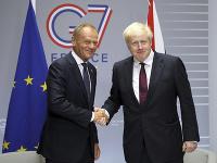 Boris Johnson a Donald Tusk