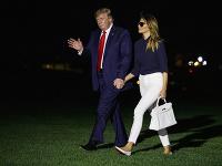 Donald Trump so svojou manželkou Melaniou
