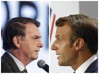 Jairo Bolsonaro a Emmanuel Macron