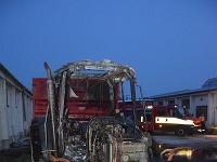 Požiar traktora v obci Hubice.
