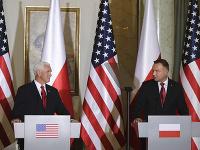 Mike Pence a Andrzej Duda