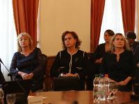 Kandidátky na predsedu Najvyššieho súdu SR (zľava) Jana Bajánková, Ivetta Macejková a Soňa Mesiarkinová