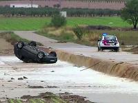Prudké lejaky a záplavy sužujú Španielsko