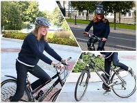 Gabriela Matečná prišla do NR SR na bicykli