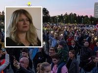 Zuzana Čaputová sa vyjadrila k zhromaždeniu Za slušné Slovensko