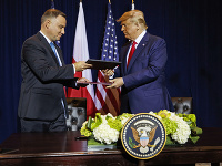 Andrzej Duda a Donald Trump