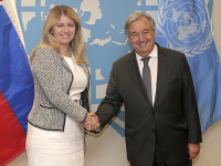 Zuzana Čaputová a Antonio Guterres