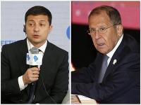 Volodymor Zelenskyj a Sergej Lavrov