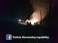 Lietadlo spadlo do poľa pri obci Nové Sady.