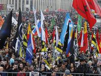 Na proteste v centre Moskvy sa zhromaždilo približne 20 000 ľudí