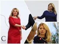 Zuzana Čaputová na summite striedala šatník