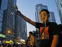Demonštrácia v Hongkongu.