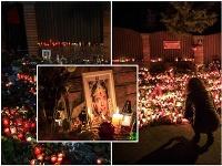Ulice Nad Bertramkou sa premenila na obrovské spomienkové centrum na počesť speváka Karla Gotta