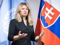 Prezidentka Zuzana Čaputová počas summitu OSN v New Yorku