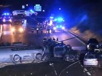 Hromadná nehoda na českej D1.