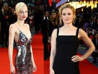 Andrea Riseborough a Anna Paquin sa predviedli v zaujímavých šatách.