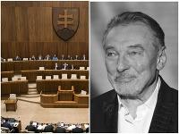 Poslanci si uctili slávneho českého speváka Karla Gotta