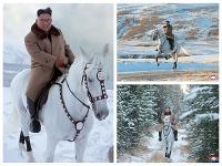 Jazda Kim Čong-una na horu Pektu