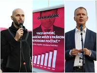 Mimoparlamentné subjekty zorganizovali protest pred domov Jaroslava Haščáka