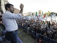 Na výzvu bývalého talianskeho ministra vnútra Mattea Salviniho sa v sobotu v Ríme zišlo vyše 100-tisíc ľudí.