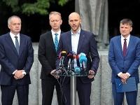 Andrej Kiska, Miroslav Beblavý, Michal Truban, Alojz Hlina
