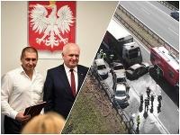 Ukrajinec Andrii Sirovatski dostal poľské občianstvo za záchranu ľudí z horiacich áut.