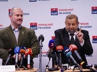 Marian Kotleba a Štefan Harabin sa dnes majú stretnúť na centrále strany Vlasť na Miletičovej ulici v Bratislave.