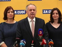 Veronika Remišová, Andrej Kiska a Jana Žitňanská zo strany Za ľudí