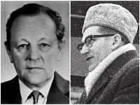 Miloš Jakeš a Lubomír Štrougal na archívnych snímkach