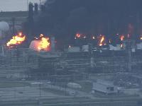 Požiar v chemickej továrni