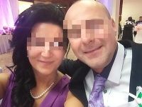 Andrea s manželom.