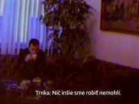 Ján Počiatek bol zaznamenaný kamerou Dobroslava Trnku v jeho kancelárii.