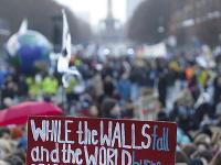 Globálneho štrajk za prijatie opatrení na ochranu klímy v Berlíne.