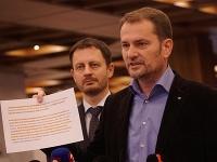 Igor Matovič počas tlačovej konferencie