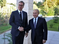 Vladimir Putin so srbským prezidentom.